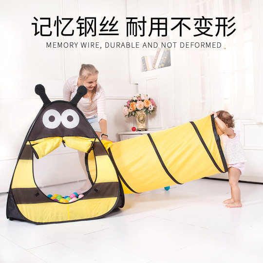 Opei children's tent play house home boy indoor child baby baby tunnel toy crawling tube drill hole