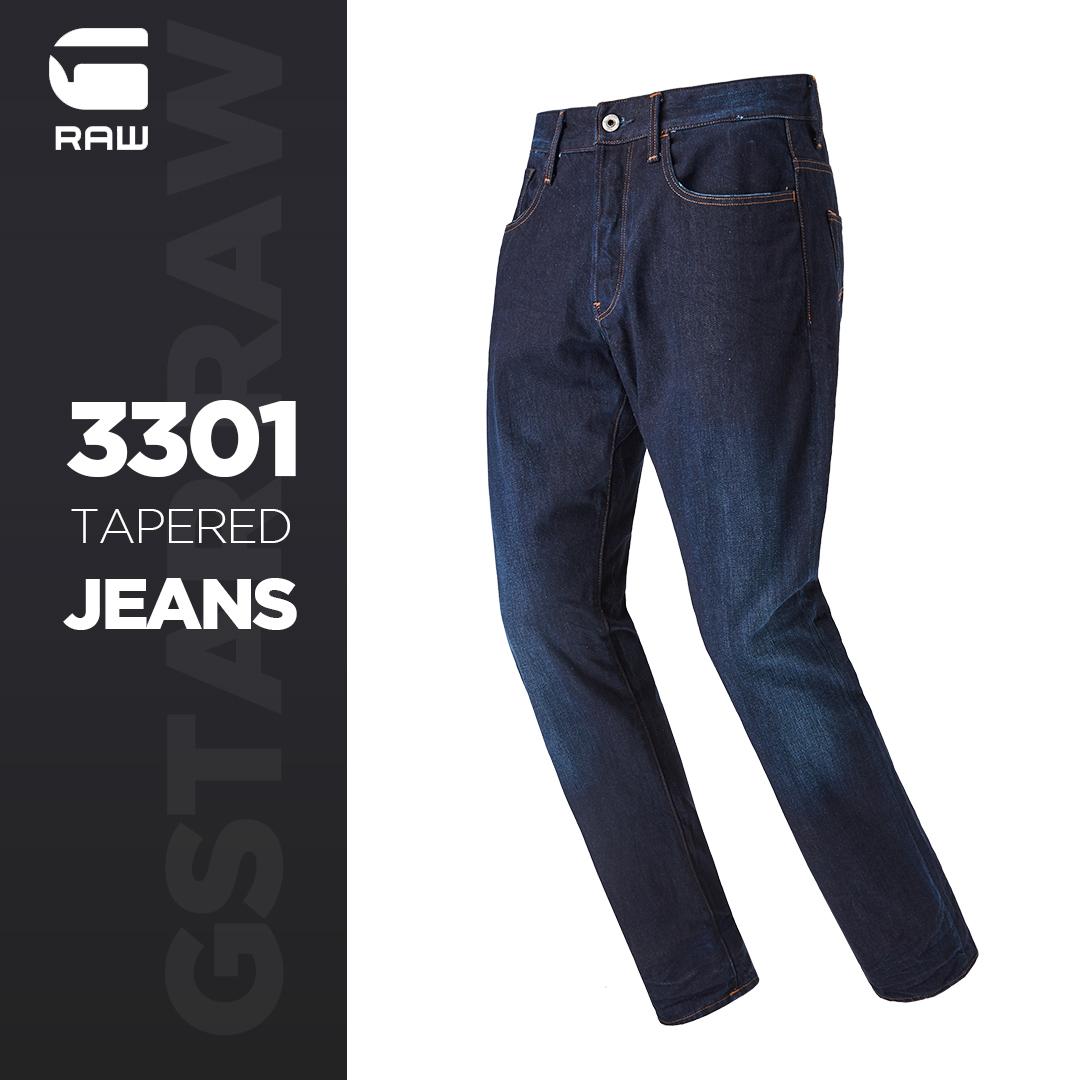 0点开始限1小时 G-STAR RAW 3301经典系列 纯棉男式直筒牛仔裤 D07970 ¥264包邮