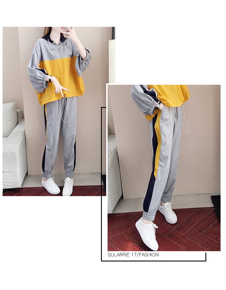 Tide brand early autumn sports suit women's 2020 new autumn fashion long-sleeved casual top trousers autumn two-piece set 59 Online shopping Bangladesh