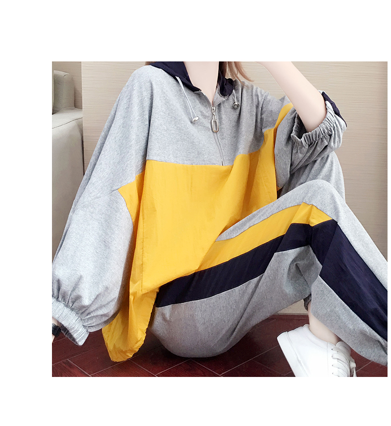 Tide brand early autumn sports suit women's 2020 new autumn fashion long-sleeved casual top trousers autumn two-piece set 60 Online shopping Bangladesh