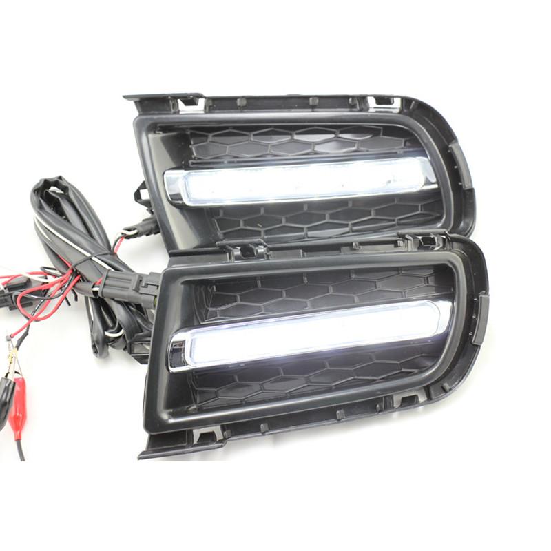 2pcs White Led Daytime Running Light Drl Fog Lamp For Mazda 6 2005 2008