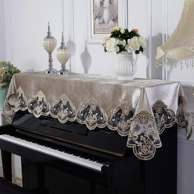 Кружево фортепиано покрытия полудверный континентальный пианино полотенце полотенце вышивка ткань пианино против пыль фортепиано покрытия полная страховка