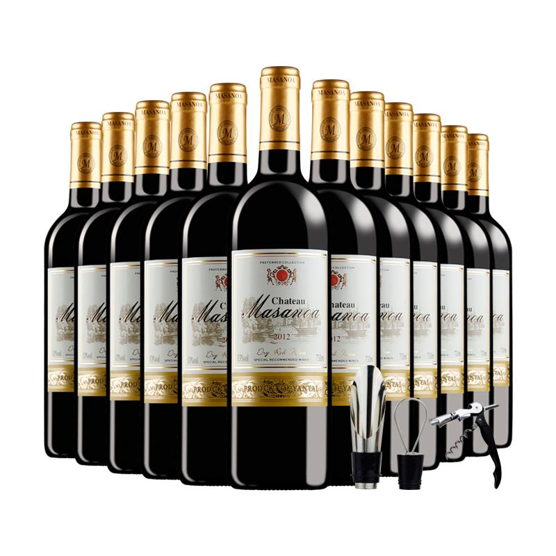 【买一箱送一箱】法国进口红酒葡萄酒12支