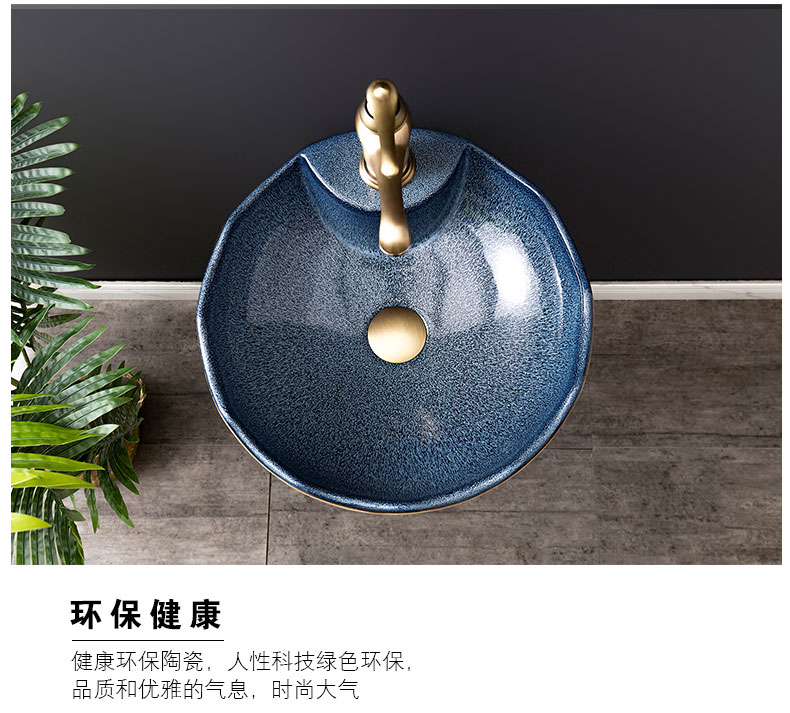 Ceramic basin floor balcony is suing the lavatory retro column pillar household toilet lavabo, 11