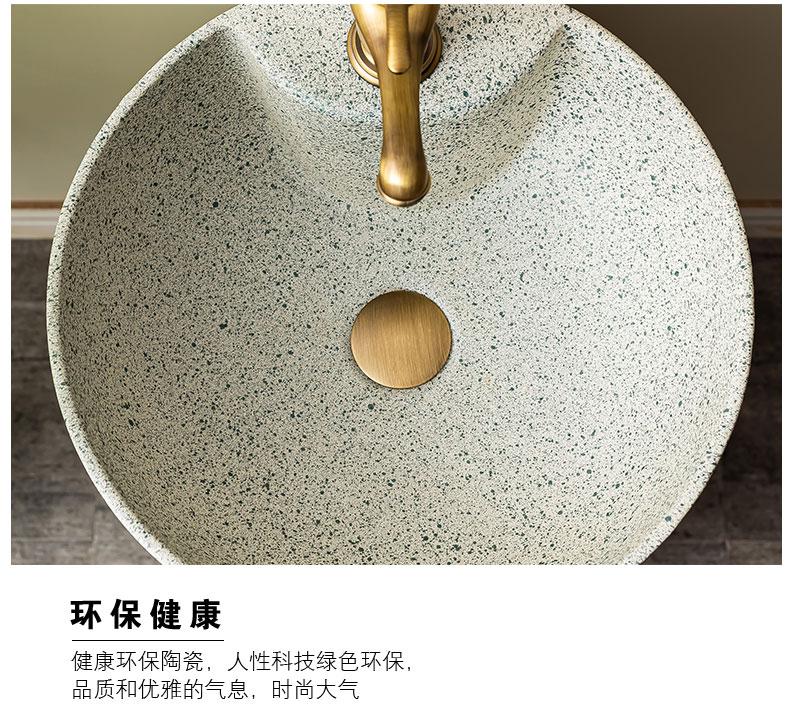 Basin of pillar type lavatory balcony column restoring ancient ways of household toilet lavabo Basin ceramic floor 4