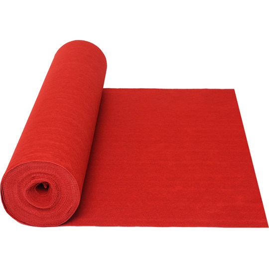 Red carpet one-time wedding wedding red carpet opening ceremony thick carpet red carpet customization