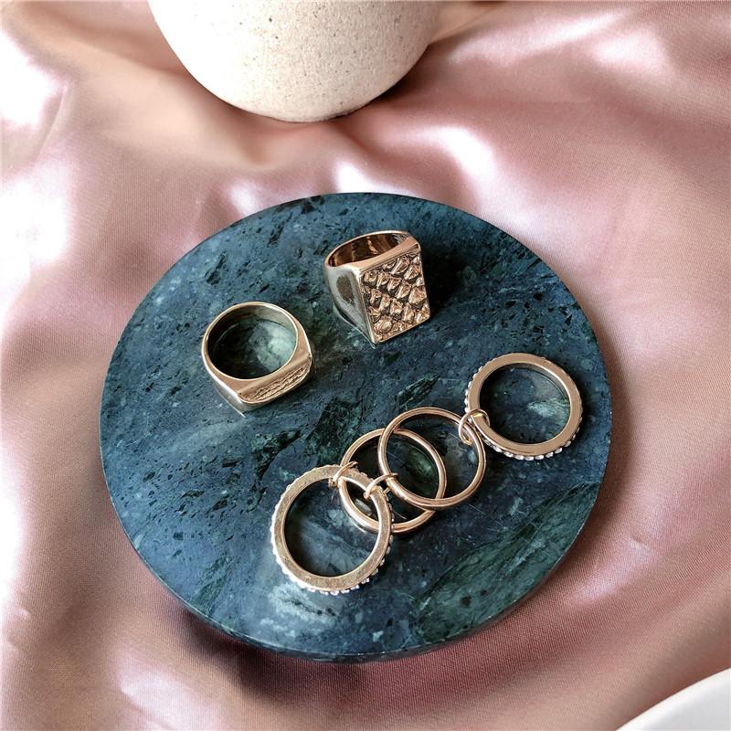 中國代購|中國批發-ibuy99|欧美冷淡系夸张潮人个性金色方形戒指简约食指指环饰品女