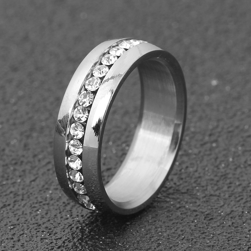 中國代購 中國批發-ibuy99 厂家Ebay欧美Ins简约个性镶锆石不锈钢戒指钛钢戒指男