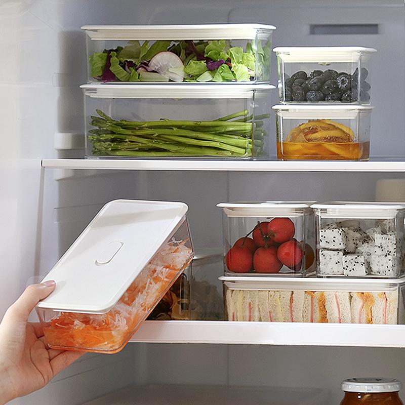 Ленивый угол прозрачный ящик для хранения пластик загерметизированный консервный сосуд для хранения продуктов холодильник рефрижераторный запечатанный crisper 65993
