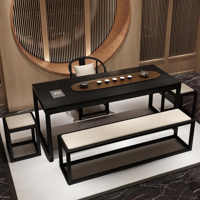 新中式禅意套装茶台喝茶茶几实木桌椅仿古简约桌椅桌茶茶艺v禅意