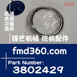Excavator loader high quality new R320-7 excavator 6CT8.3 piston ring 3802429 accessories