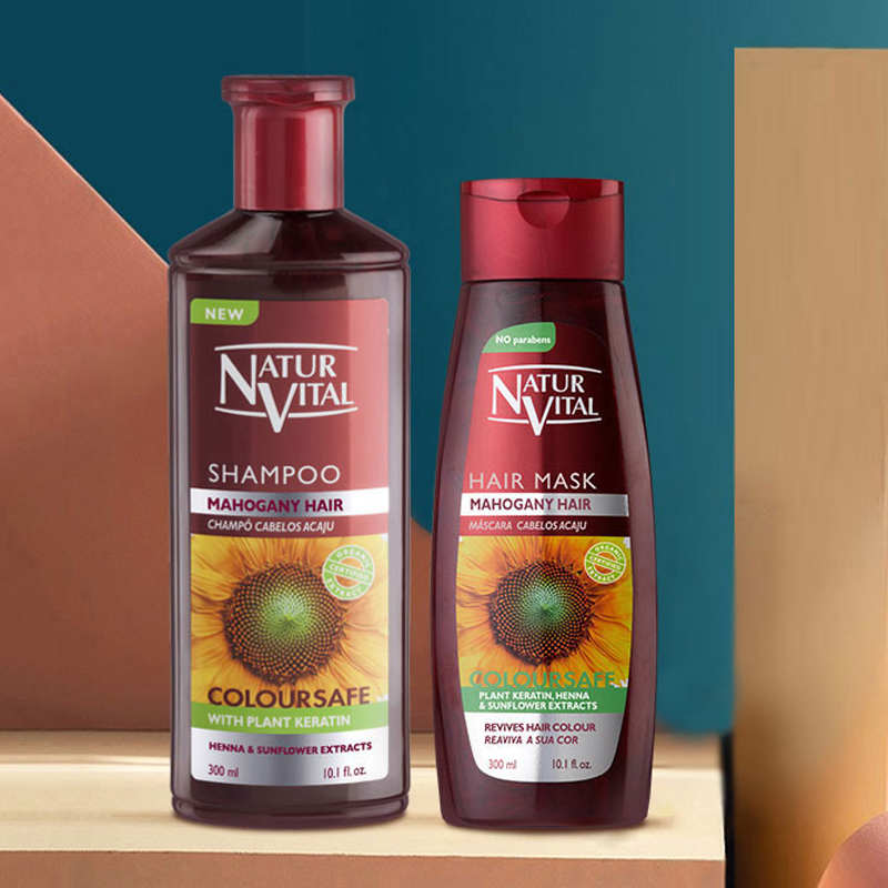 威蒂茨NaturVital西班牙nv锁色固色提亮氨基酸护发洗发水发膜进口