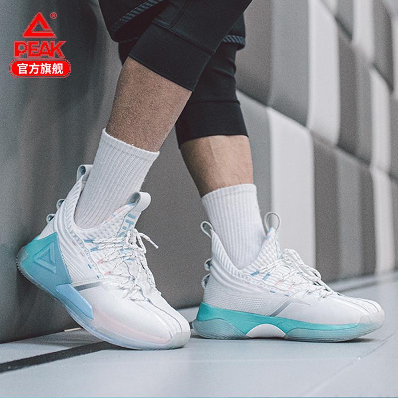 匹克态极虎鲸篮球鞋男2021夏季新款正品学生高帮减震耐磨运动鞋白