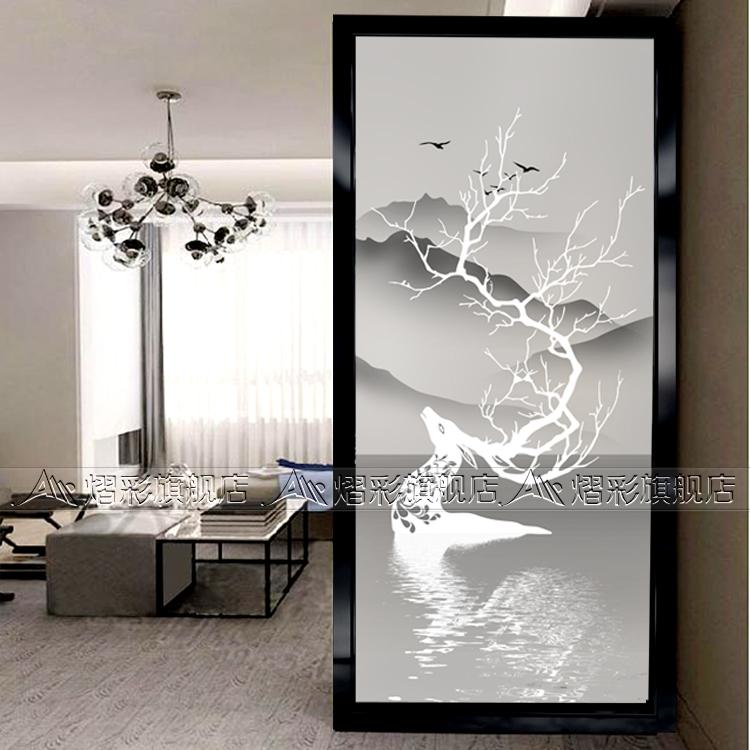 Настоящее время поколение Европейская художественная стеклянная перегородка резная входная стена жилая комната проходная стена экрана ноутбук лось
