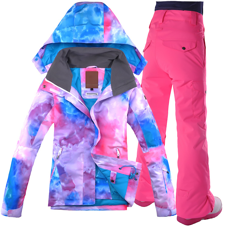 2a6713d421 Gsou Snow ski suit female suit outdoor new waterproof mountaineering South  Korea double board veneer pink. Zoom · lightbox moreview · lightbox  moreview ...