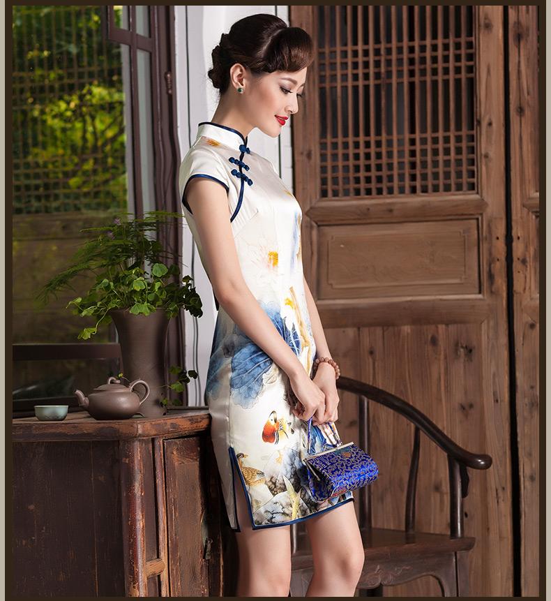 东方优雅 绝色容颜(十八)【真丝与丝绒旗袍】 - 花雕美图苑 - 花雕美图苑