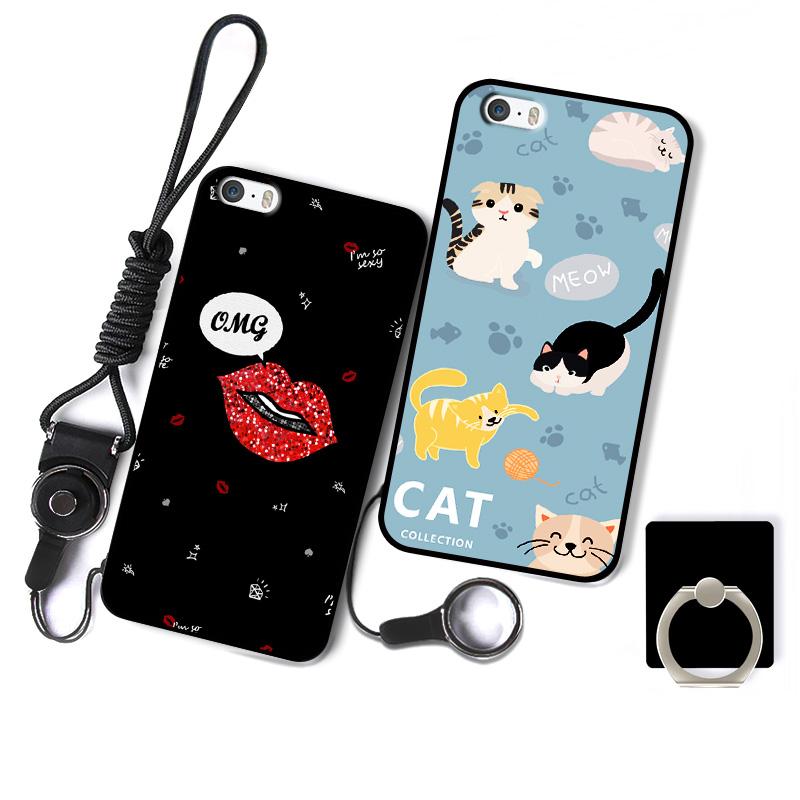苹果5s手机壳女款iphone5s手机套硅胶五苹果SE软苹果6/6s保护套【券后4.90元】
