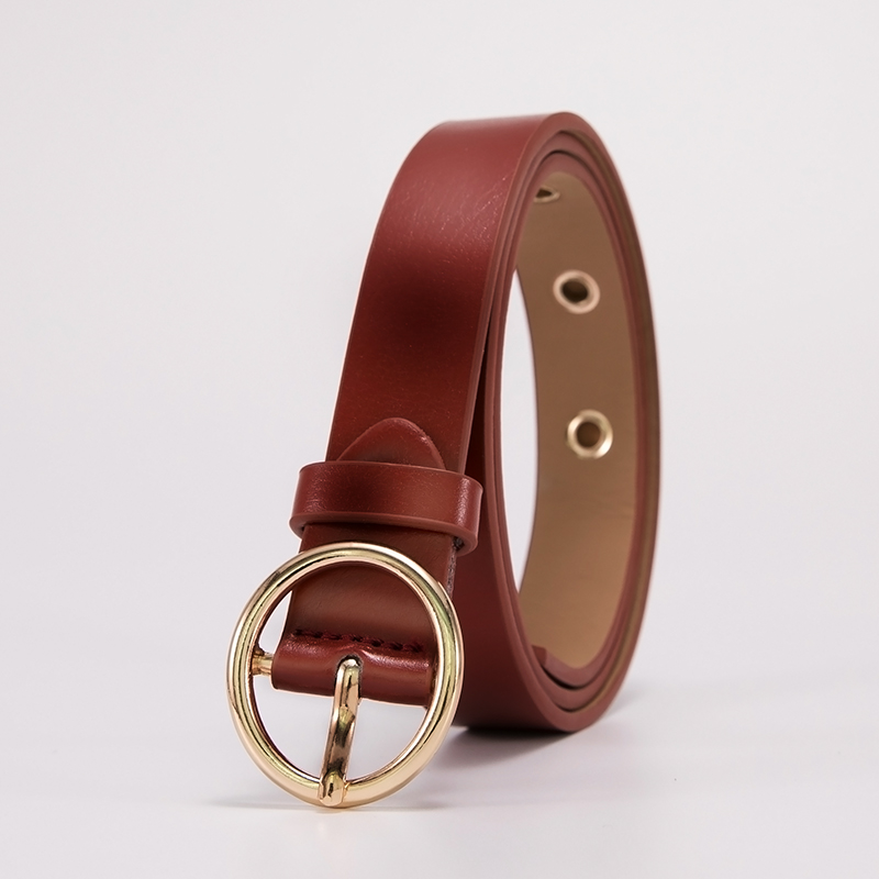 ML-12-ROUND BUCKLE - REDDISH BROWN