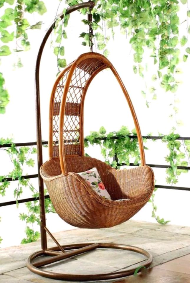 Indonesia Imported Natural Real Rattan Indoor Chair Outdoor Swing Rattan  Furniture Rattan Chair Balcony Leisure Rattan ...