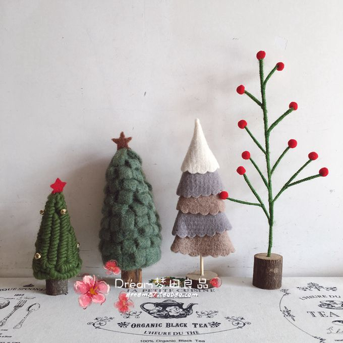dream tian liangpin zakka handmade felt christmas tree decoration home decoration