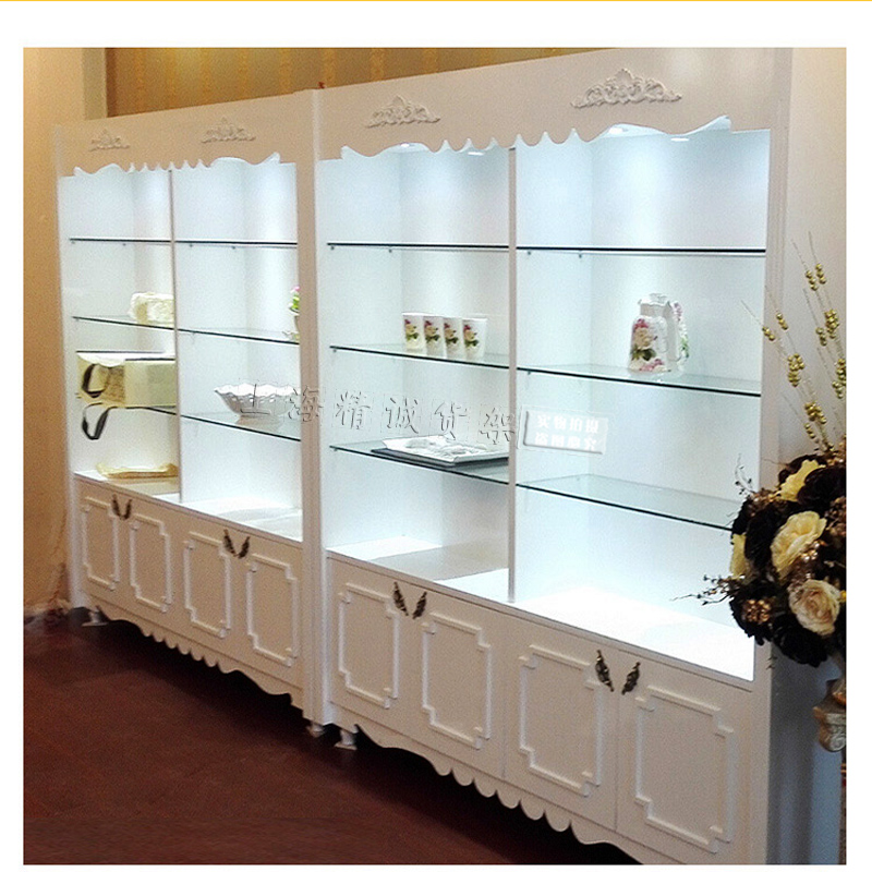 Spot Cosmetic Cabinet European Lacquered Display Cabinet Beauty Salon  Products Cabinets Nail Salon Counter Wooden Boutique Cabinet