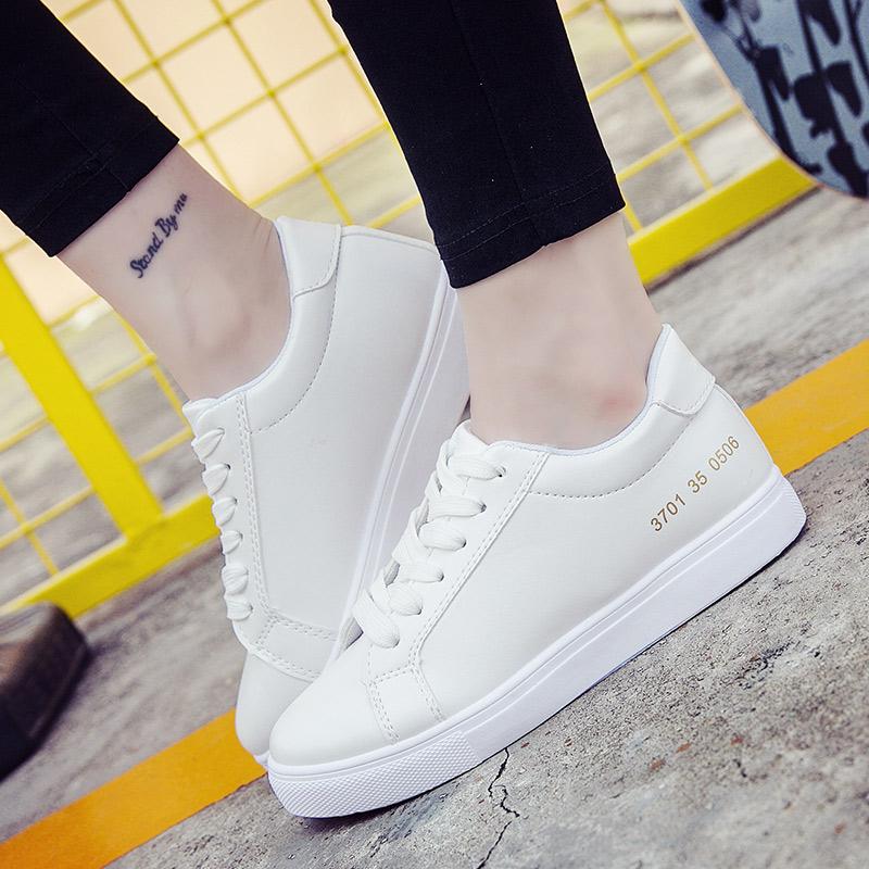 Весна 2018 г. новая коллекция корейская версия Женская обувь дикая белый Обучающий студент для отдыха на плоской подошве спортивный панель Летняя обувь белый туфли