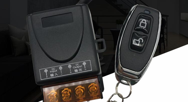 无线遥控开关车用灯直流水泵风扇电机通电断电详细照片