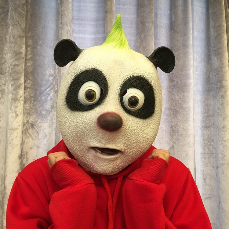【滿額打折】動物面具兒童可愛老鼠豬八戒馬頭猩猩哈士奇狗頭年會抖音搞笑頭套【海草家】