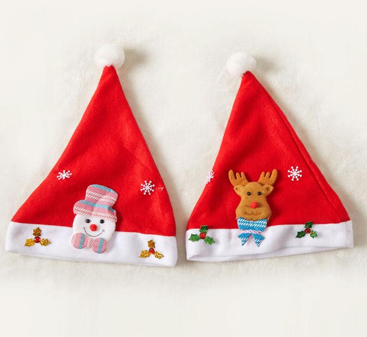 聖誕節裝飾品聖誕帽兒童成人卡通雪人帽子幼兒園聖誕派對禮品帽