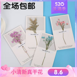 Card Birthday Card Creative Gypsophila Dry Flower Small Fresh Thanksgiving Wishes Mother's Day Children's Day Holiday Postcard
