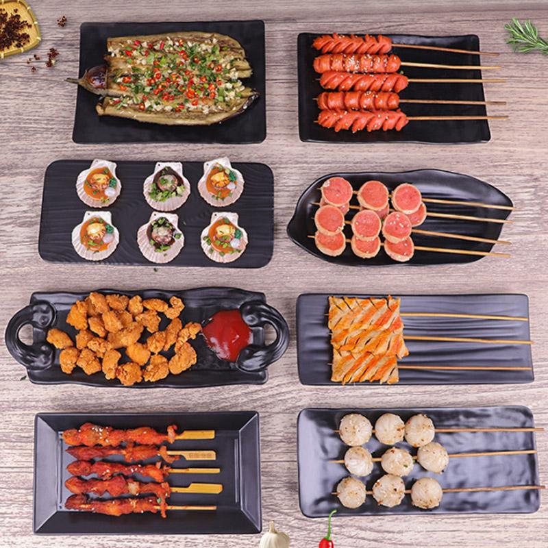 酒吧ktv小吃盘创意 个性塑料密胺日式餐具商用餐厅凉菜拌小菜碟子