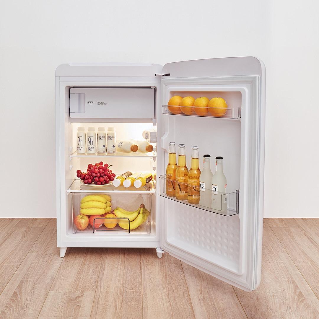 昌發優選 minij/小吉 BC`M121RW 家用辦公室節能冷藏冷凍單門小型復古冰箱