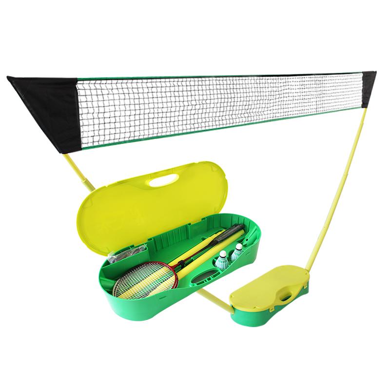 Бадминтонная сетевая стойка переносная со складыванием Главная мобильная стойка стандартный Простая чистая стойка для бадминтона
