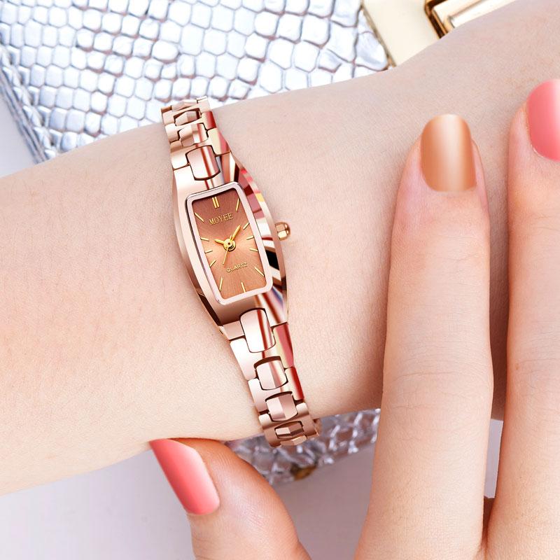 Vàng hồng chính hãng cơ khí không thấm nước thời trang Hàn Quốc đồng hồ đeo tay nữ đồng hồ đeo tay nữ đồng hồ nữ - Vòng đeo tay Clasp