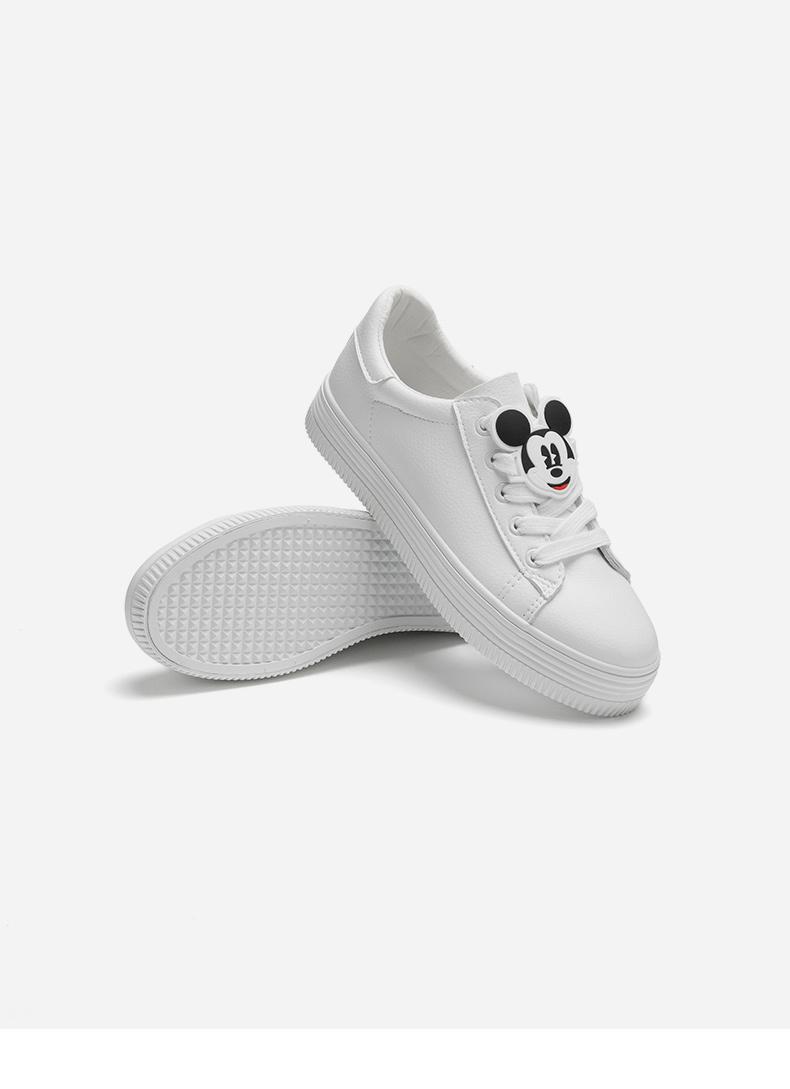 热风2018年秋季新款女士迪士尼系带休闲鞋圆头深口单鞋潮H14W8302