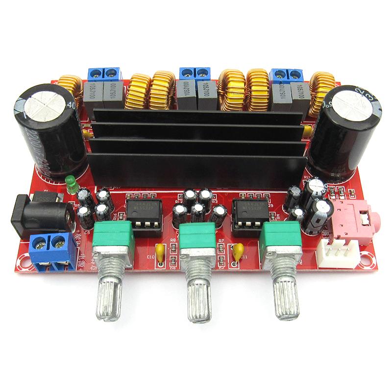 2 1 channel digital power amplifier board module 12V-24V wide