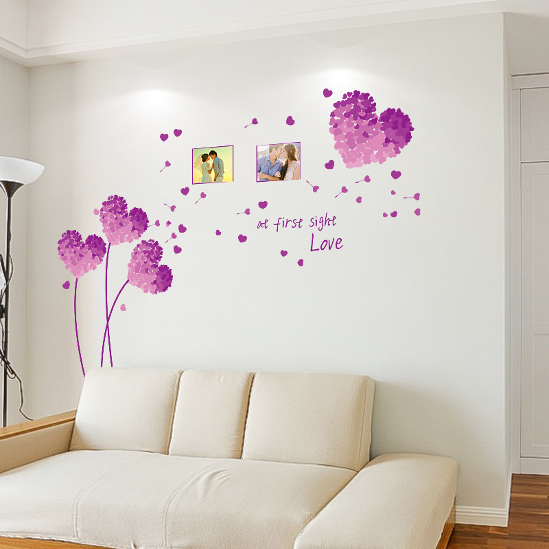 Bedroom Bedside Warm Romantic Decorative Wall Stickers European Style Wall Painting Stickers Self Adhesive Wall Stickers Simulation 3d Stereo