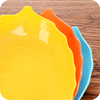 Modern fashion creative melon fruit tray tree leaf shaped plastic fruit plate living room dried fruit plate snack candy pot