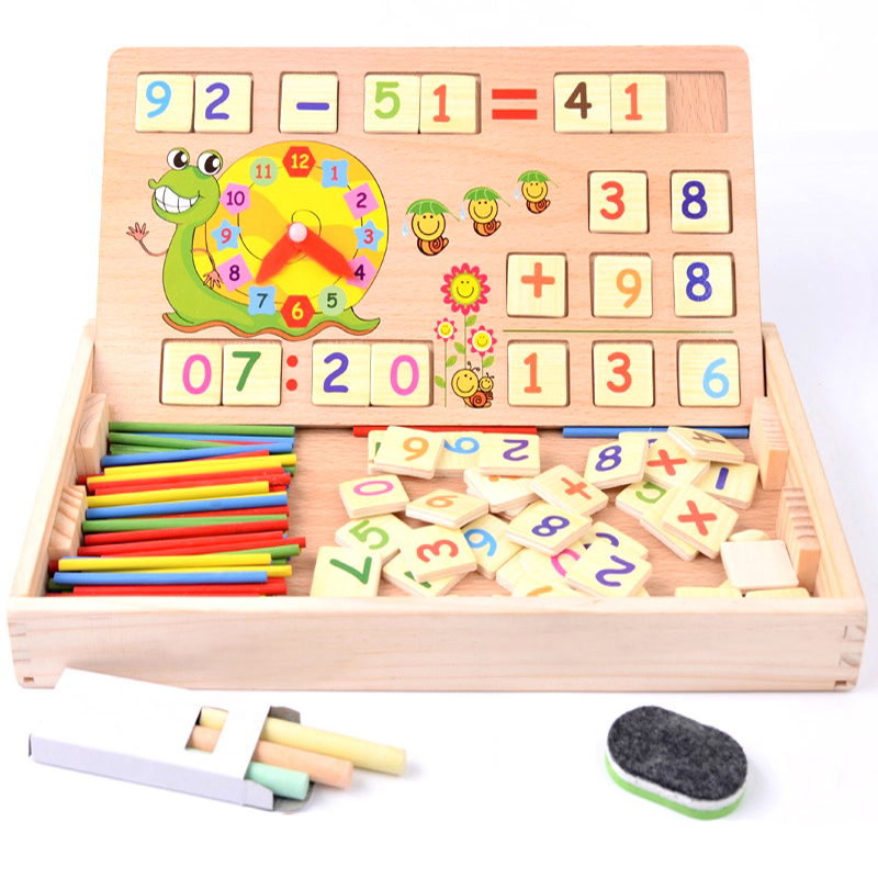 USD 11.64] Kids math maths teaching aids early learning puzzle ...