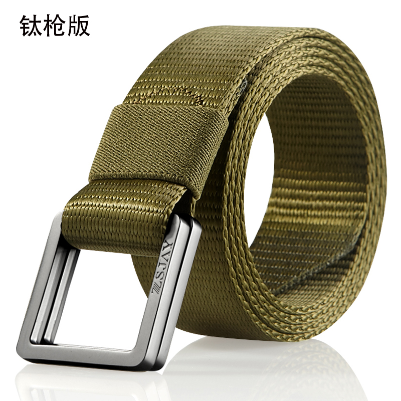 USD 19.46  Tactical bird genuine Russian military canvas belt double ... 009a7bc7170