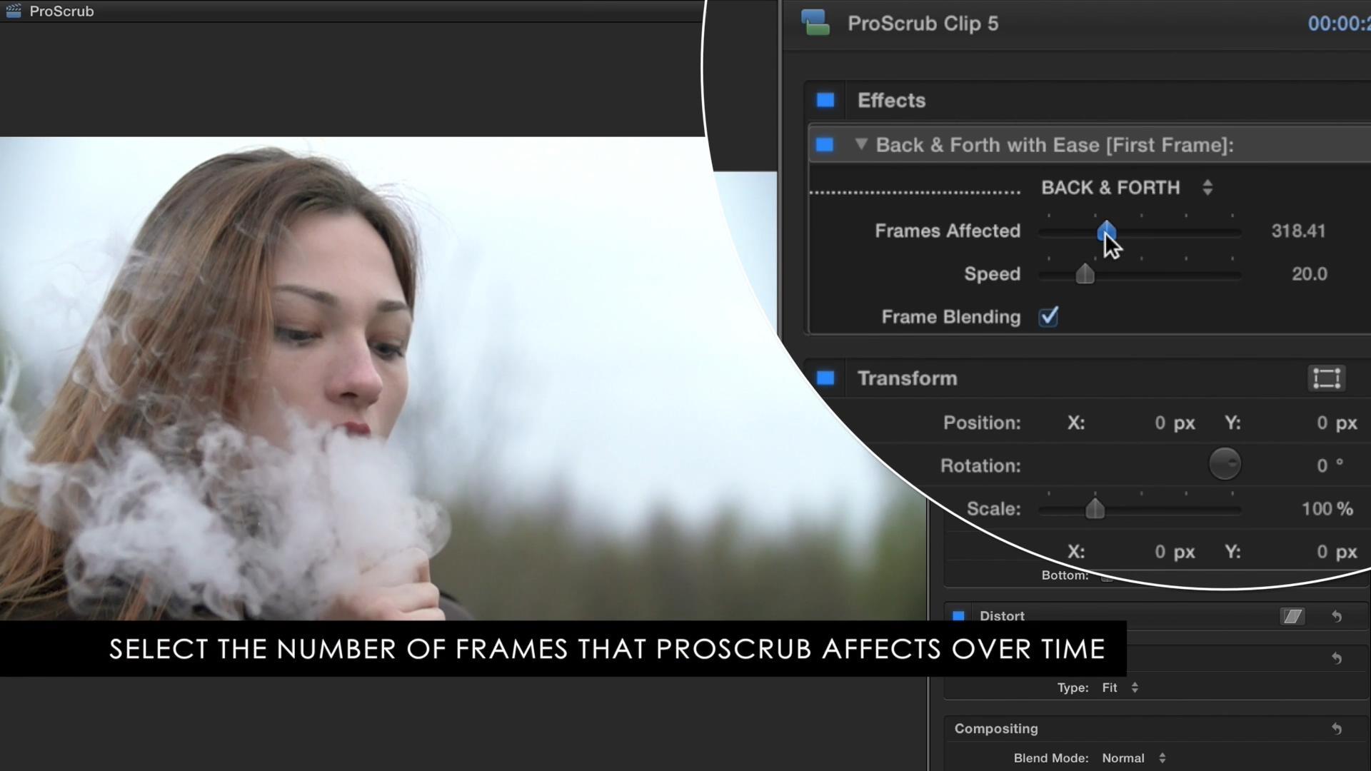 FCPX插件:视频速度调节画面前后重复闪烁工具 ProScrub - 第2张  | VFXREEL-逍遥影视CG部落