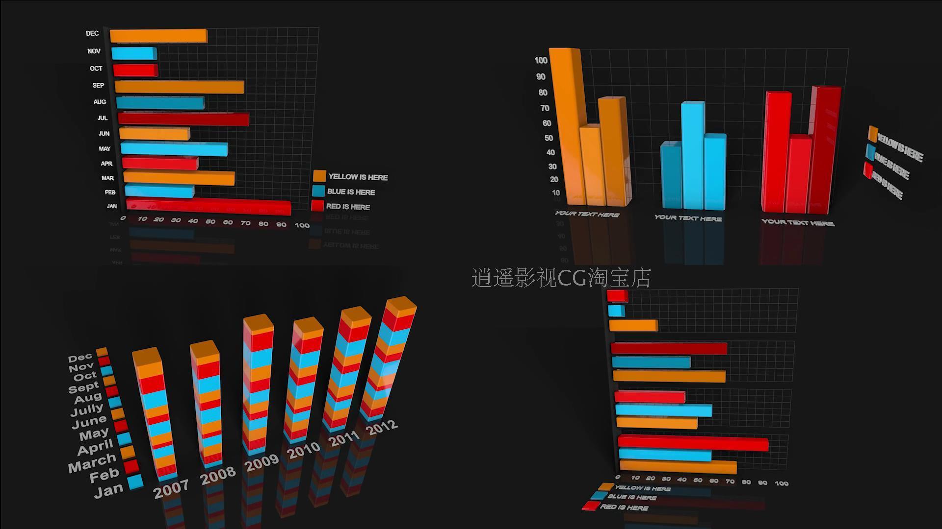 TB2_BlYpVXXXXafXXXXXXXXXXXX_!!1075754678 C4D预设:45组公司企业专用三维信息数据图表柱状图饼状图工具包