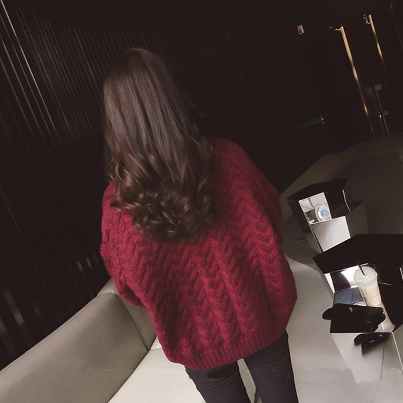Трикотаж Корейской версии сыпучих V-образным вырезом Twist топ весенних пальто короткий параграф вязать кардиган весной и осенью новый свитер женщин толстые линии