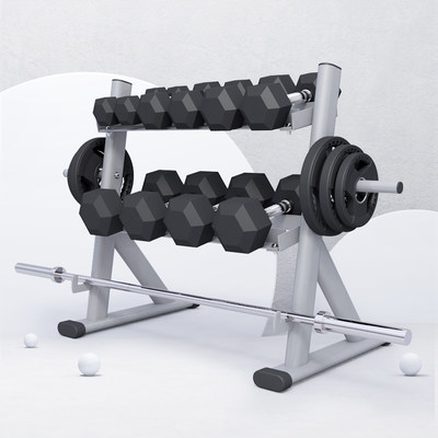 Yulong commercial household double-layer storage dumbbell rack professional gym fitness equipment multifunctional storage rack