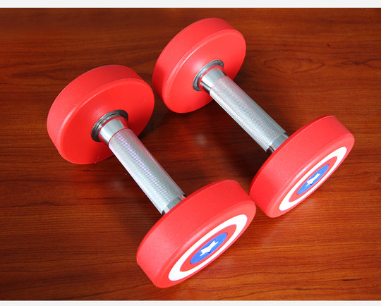 Gym professional dumbbell fitness men's home training arm muscle fixed commercial personal training environmental protection PU dumbbell