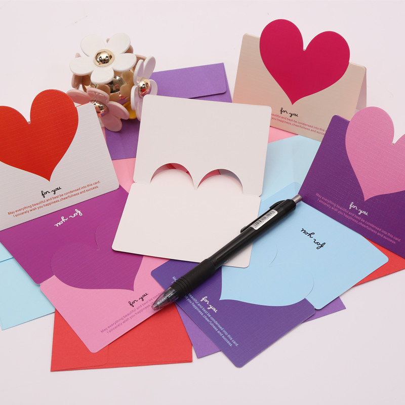 Usd 649 heart shaped greeting card korean creative birthday wishes 64 envelopes without 8 colors are equipped with 64 white hearts no envelope 64 foundation red hearts no envelope 64 blue powder heart no envelope m4hsunfo