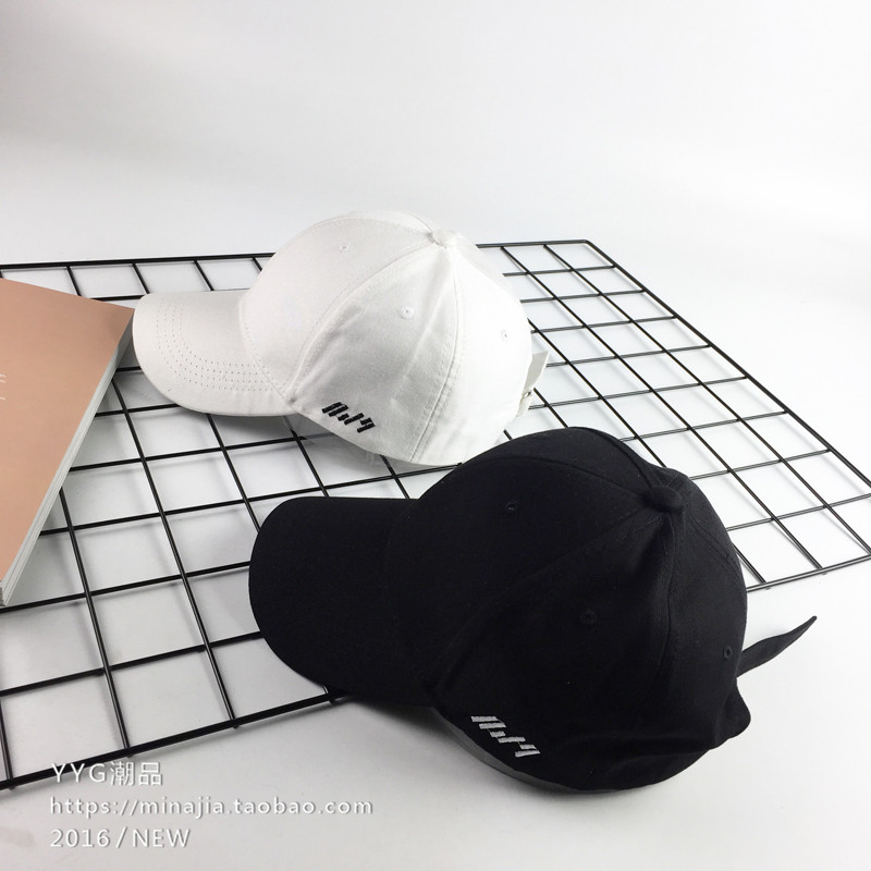 d5c435217c4ee Korean version of the spring and summer hat female simple casual cap men  and women wild baseball cap curved Eaves hip-hop hat sun hat tide