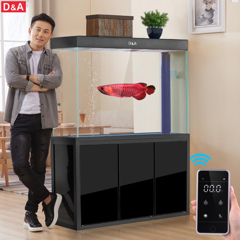 德國德克魚缸客廳小型超白玻璃生態水族箱底過濾懶人免換水金魚缸