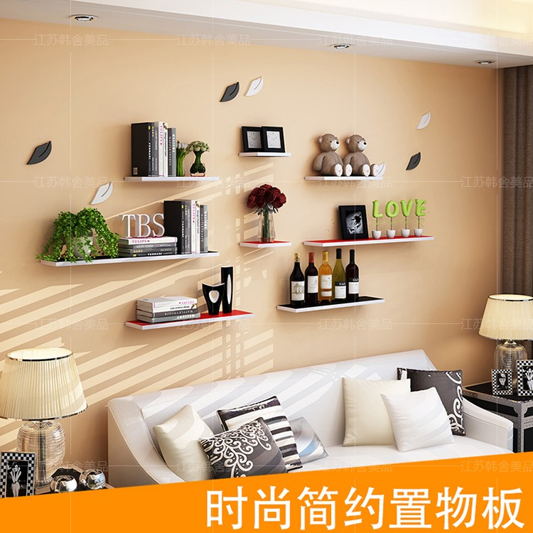Wall shelves creative wall word Partition board bedroom ...