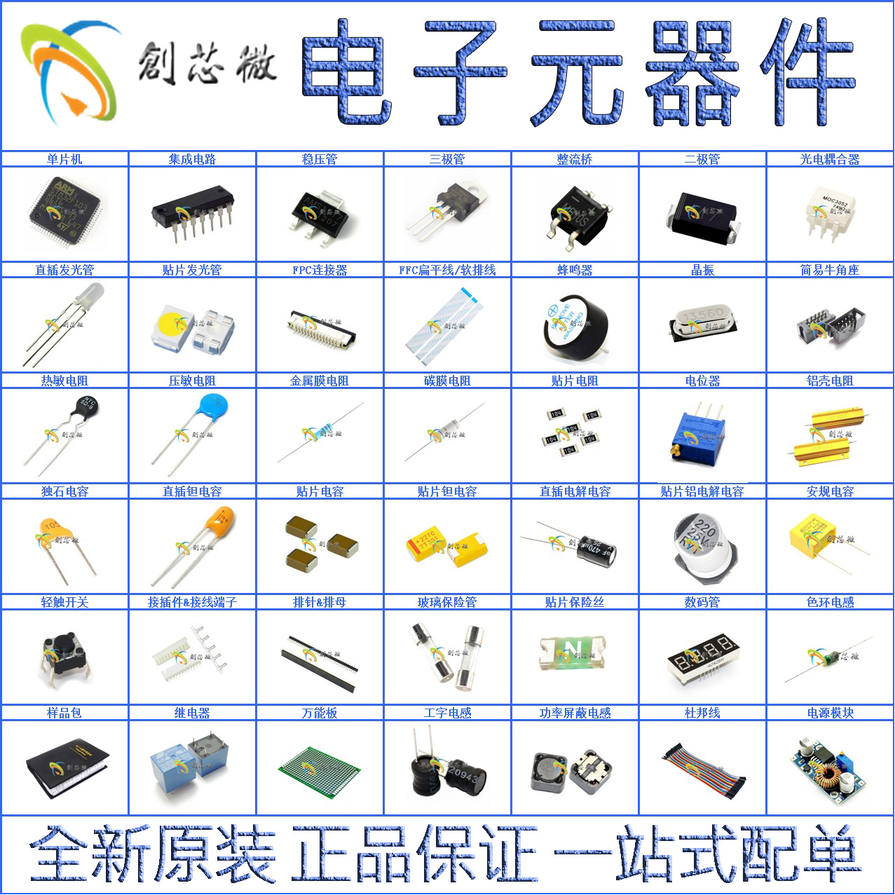 Usd 419 Electronic Components With A Single Integrated Circuit Ic Resistors And Capacitors In Capacitor Chip Resistance Capacitance Crystal Bom Table Material Price